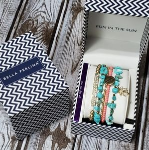 "NIB Bella Perlina ""Fun in the Sun"" Bracelet Set."